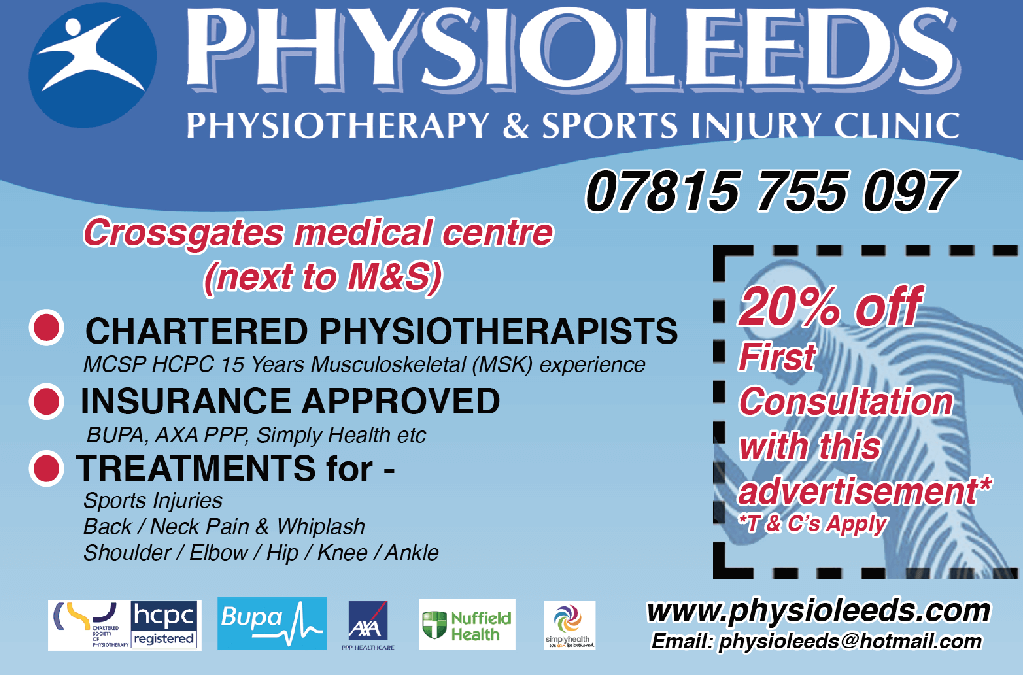 PHYSIO LEEDS UPDATE
